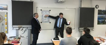 Politik erleben - Thüringer Landtagspräsident Christian Carius zu Gast an unserer Schule